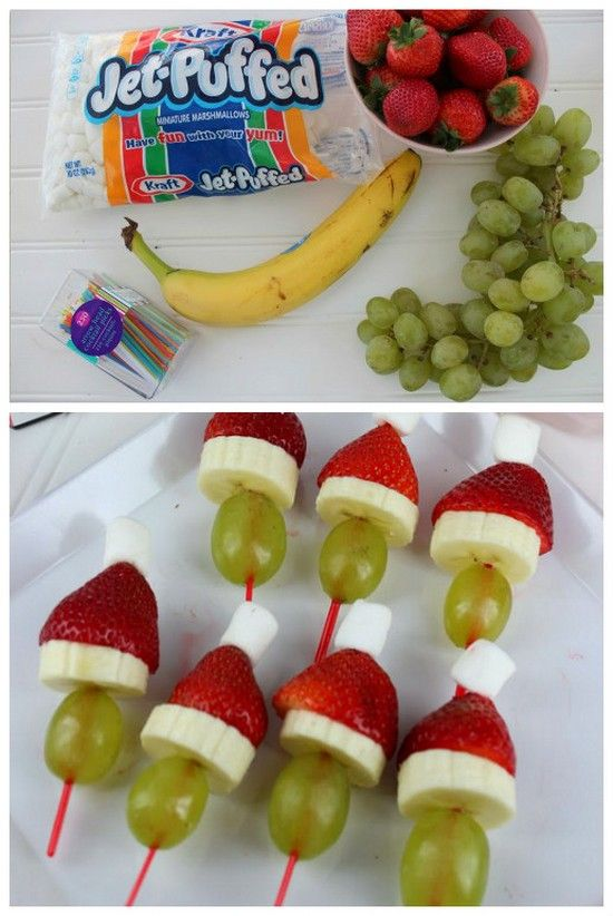 Here's a super cute recipe for Grinch Kabobs! These are very simple to make and make a pretty healthy snack for the kiddos! These are also great for parties or just a fun snack for the little ones. Have fun and enjoy..: